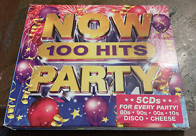 NOW 100 HITS PARTY (Various Artists) 5 CD Set (2019) FAST FREE POST • 6.50£