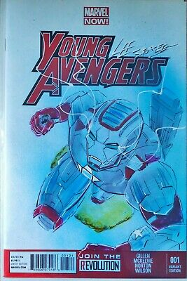 MARVEL Comics: Young Avengers Issue #001 Custom Artwork Cover By Lee Bradley • 60£