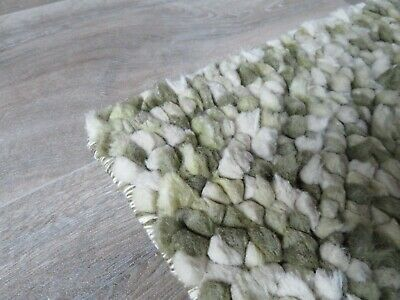 John Lewis Pebble / Bobble Rug In Green Shades *100% Pure Wool* • 60£