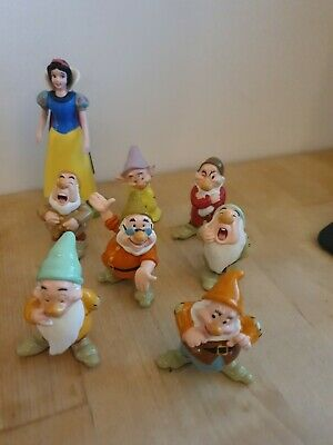 Disney Snow White And The Seven Dwarfs Figures X8 • 2.20£