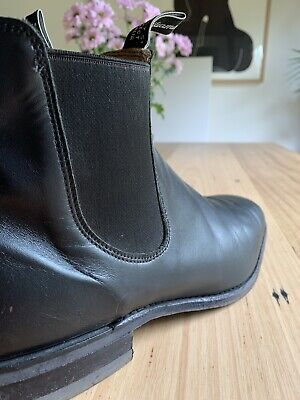 AU295 • Buy RM Williams Boots Mens Black Leather Craftsman Boots Size 10-G