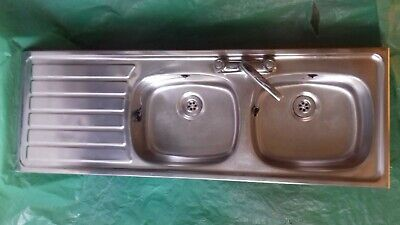 Kitchen Sink Double Bowl With Drainer • 50£