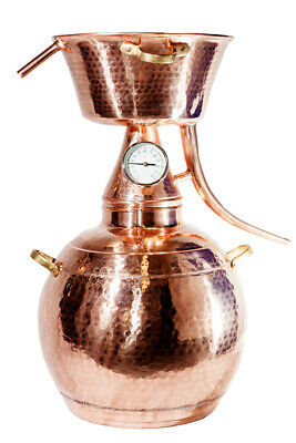 AU269.45 • Buy Alquitar Copper Still With Thermometer, 5 Litres, Alcohol ,Hydrosol, Moonshine