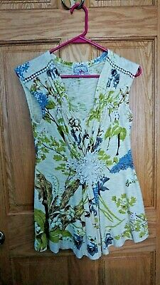 $ CDN23.52 • Buy Womens Anthropologie Cotton Sleeveless Floral Sweater Size XS