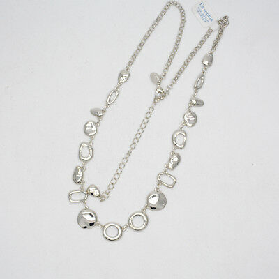 $ CDN10.44 • Buy 23  Lia Sophia Signed Jewelry Silver Tone Beaded Necklace Chain For Women Gifts