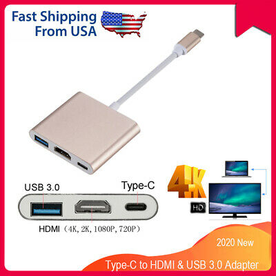 $14.87 • Buy NEW USB Type C To HDMI HDTV TV Cable Adapter Converter For Macbook Android Phone