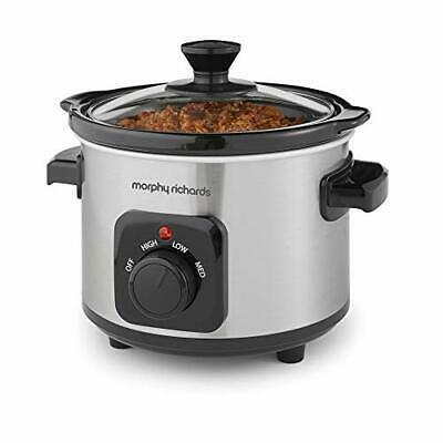 Morphy Richards 460300 Slow Cooker 1.5L, Ceramic, 1.5 Liters, Brushed Steel • 24.01£