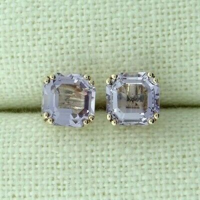 9ct Rose Gold Amethyst Solitaire Stud Earrings • 16£