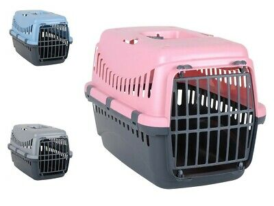 Portable Pet Carrier Carry Basket Cat Dog Puppy Travel Cage Transporter Box New • 11.99£