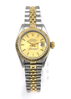 $ CDN2639.39 • Buy VINTAGE LADIES ROLEX DATEJUST 69173 WRISTWATCH 18K GOLD STAINLESS BOX C1995