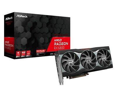 $ CDN110.79 • Buy ASRock AMD Radeon RX 6800 Graphics Card 16GB - Outperforms Nvidia 3070 And 3080