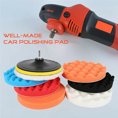 8Pc 6  Buffing Polishing Pads Mop Car Wheel Buffer Polisher Set Drill Attachment • 10.79£