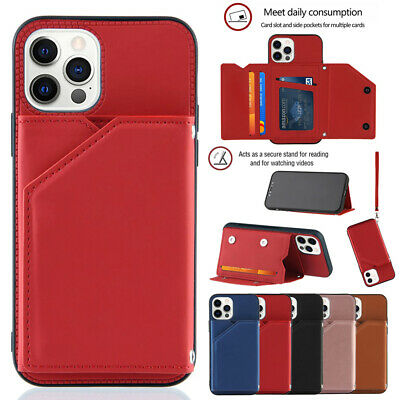 AU9.13 • Buy For IPhone 12 Pro Max 11 8 7 Plus X Magnetic Leather Card Wallet Back Case Cover