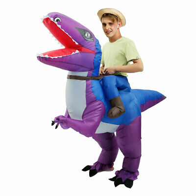 Inflatable Dinosaur Costume Jurassic Dress Blowup Outfit Adult Kids Christmas UK • 23.79£