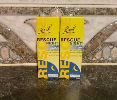 New~bach~rescue Remedy Night Drops~to Comfort & Reassure~2 X 10ml Sizes~long Exp • 11.45£