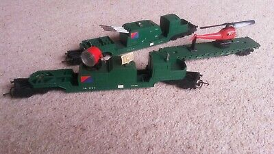 Triang 00 Gauge NATO Rocket Launcher, Search Light, Helicopter,(incomplete) • 5.50£
