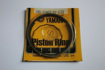 YAMAHA YDS7 DS7 250 RD250 PISTON RING 0.50 2nd OVERSIZE GENUINE 280-11601-20   D • 50£