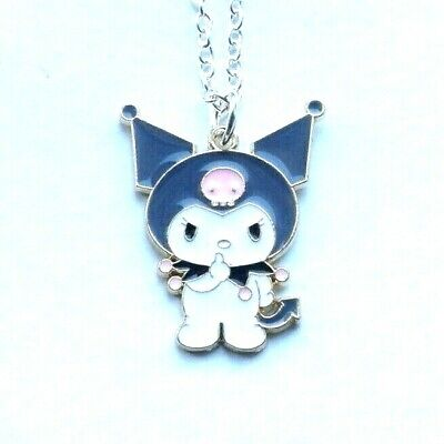 Cute Kuromi My Melody Pink Necklace Hello Kitty In Gift Bag Kawaii Black Devil • 3.99£