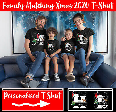 Personalized Christmas Xmas 2020 T-Shirt Family Matching Costume Fancy Dress Tee • 9.99£