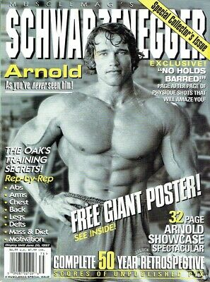 MuscleMag International Magazine,Arnold Schwarzenegger,Special Issue 1997 • 39£