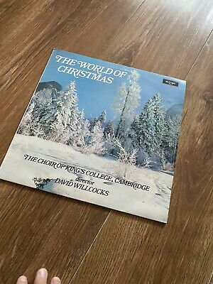 The World Of Christmas Music ~ Choir Of King's College Cambridge 12  Vinyl LP  • 2£