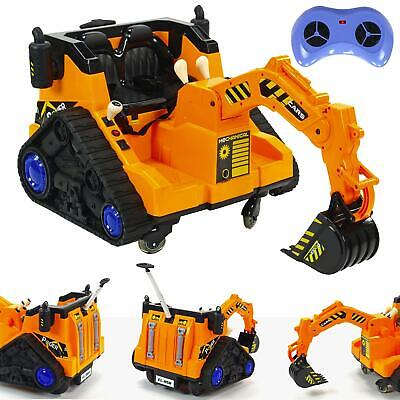 £179 • Buy 12v Electric Digger Kids Electric Ride On Battery Car Kids Ride On - Yellow