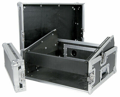 19  Dj COMBO FLIGHTCASE 8U MIXER 2U AMPLIFIER RACK CASE 171.720UK • 125£