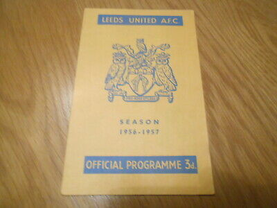 Leeds United V West Bromwich Albion 13/4/1957 • 1£