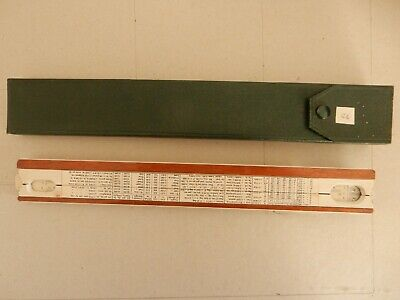 Thornton PIC 3654 Slide Rule With MAGNIFYING Cursor And Special Shape Case • 7.99£