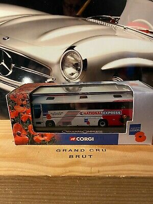 Corgi  Plaxton Premiere National Express Poppy Appeal • 10.50£