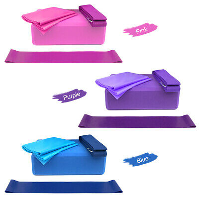 4X Yoga Block EVA Foaming Foam Brick Pilates Exercise Fitness Up Stretching T9K2 • 6.36£