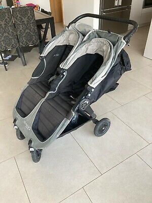 Baby Jogger City Mini GT Double Stroller, Steel Grey + 2 Branded Muffs, Cover • 115£