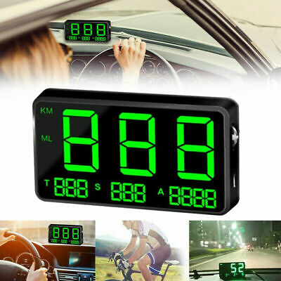 Digital Gps Speedometer Hud Mph/km/h Overspeed Warning Clock For Car Motorcycle • 22.49£