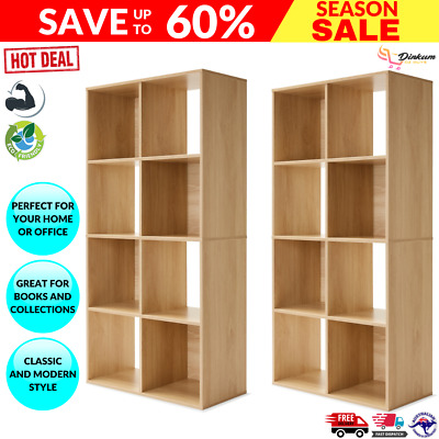 AU113.84 • Buy 2 X 8 Cube Storage Shelf DIY Cabinet Cupboard Organizer Bookshelf Display Unit