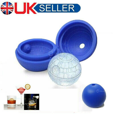 Silicone Wars Death Star Round Ball Ice Cube Mould Tray Desert Sphere Mold UK • 5.39£