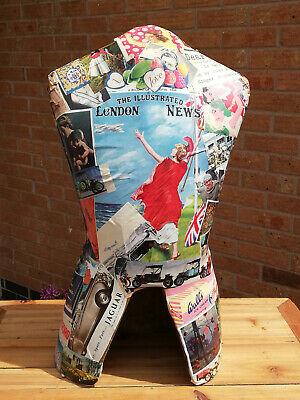 Mannequin In Decoupage Style For Chic Display • 25£