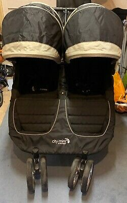 Baby Jogger City Mini Black Standard Double Seat Stroller • 80£
