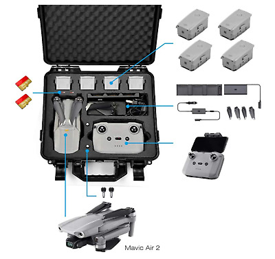 AU129.37 • Buy Carrying Case For DJI Mavic Air 2 Fly More Combo - Drone Quadcopter Accessories