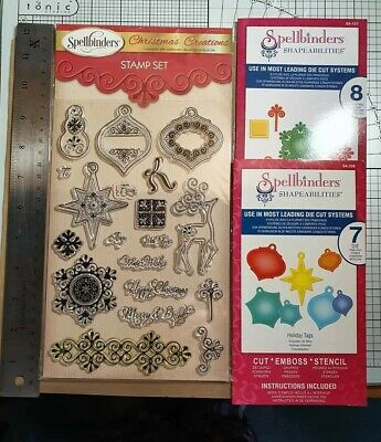 Spellbinders Christmas Creations Stamp Set And Matching Die Sets X 2 • 10£