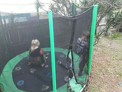 AU200 • Buy  8ft Round Trampoline With Safety Net Enclosure Spring Pad Cover & Ladder. $200.
