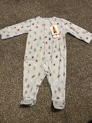 BNWT Next Baby Boys Up To 3 Months 0-3 Months Christmas Sleepsuit Babygrow • 2.85£