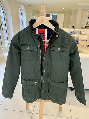 Joules Child Green Wax Jacket 11-12 Years • 20£