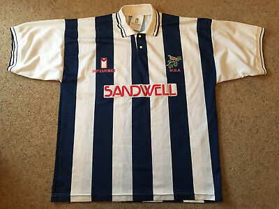 West Bromwich Albion WBA 1991-92 Shirt, Home, Size 46/48 XL, Used • 30£