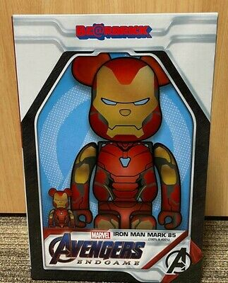 $540 • Buy MEDICOM TOY  BE@RBRICK IRON MAN MARK 85 100% 400% Set Bearbrick
