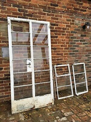 Crittall Style French Doors With Windows From 1950s • 500£