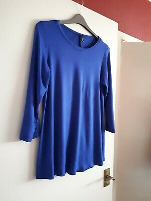 Yong Kim 12 Immaculate Royal Blue Loose Fit Swing Tunic Top • 10£