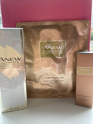 Avon Anew Ultimate Gold Peel Off Mask- Youth Essential Mask & Serum Still Sealed • 4.50£