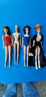 $ CDN35.03 • Buy Vintage 4 Barbie Lot Mattel 1966 1958 Midge Japan  Clothes Bent Legs Original
