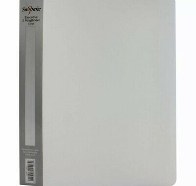 £80 • Buy Snopake Executive Ring Binder 25mm A4 Clear 4 Boxes Of 10 - Qty 40 Ring Binders