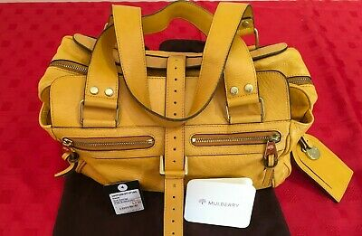 Mulberry Mabel, Shoulder Bag (Yellow) Butterscotch.1 Handle. Wth Tags &Dustbag.  • 195£